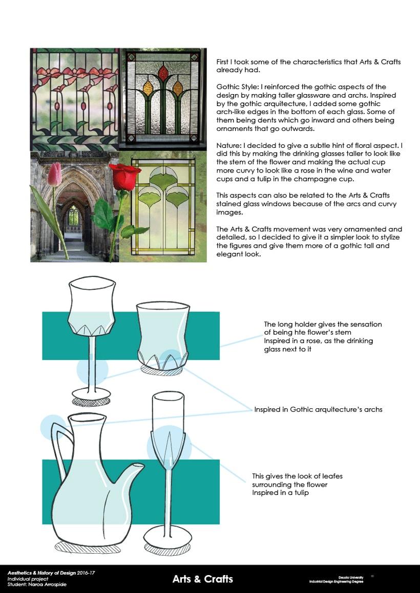 Cristalería basada en el estilo Arts & Crafts 0