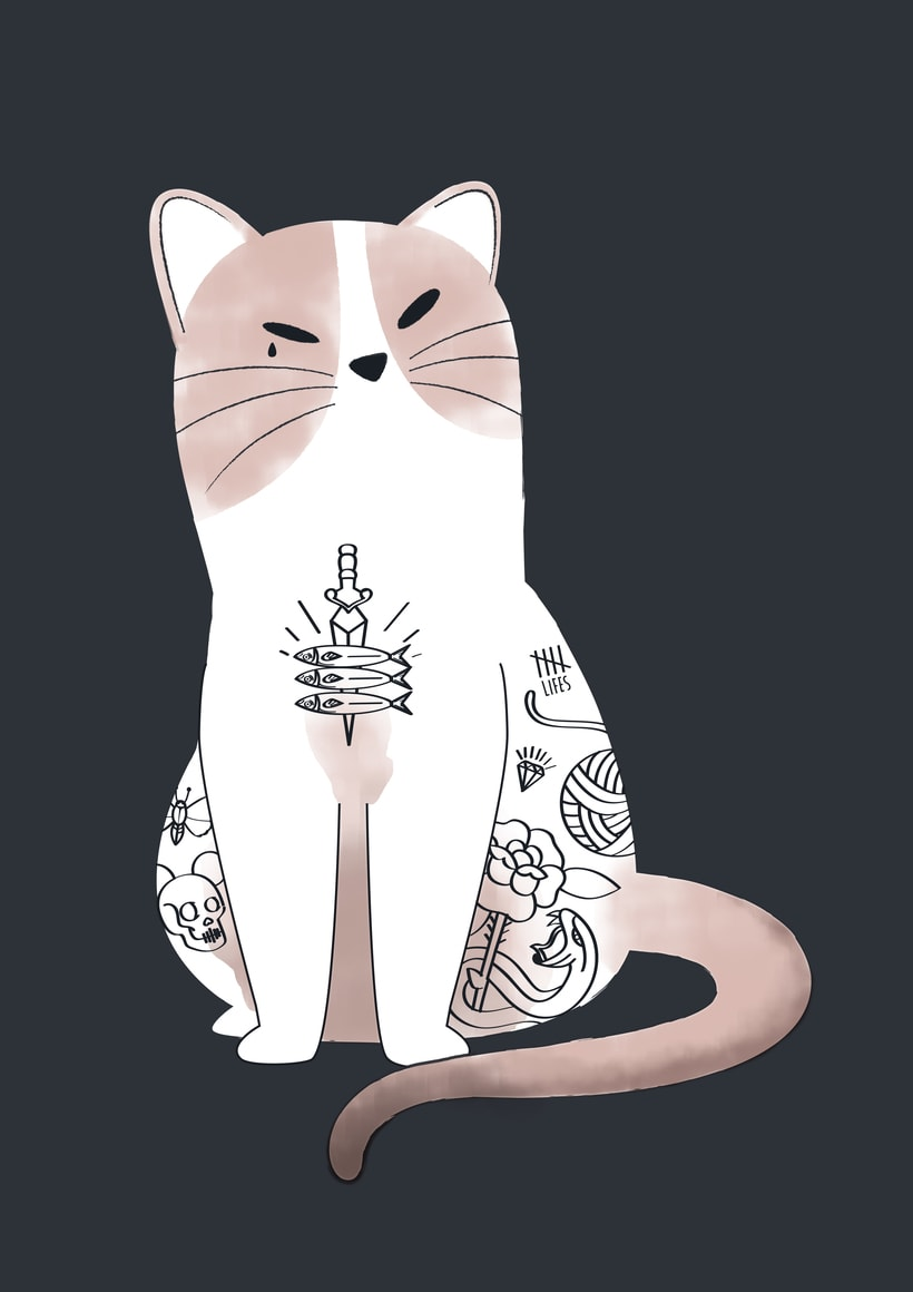 Ink cat tshirt 0