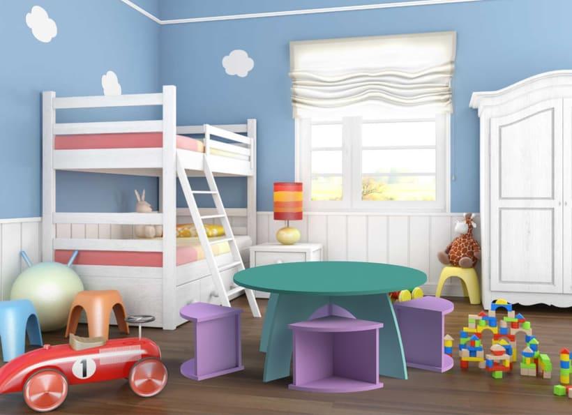 Mesa infantil por encastre 1