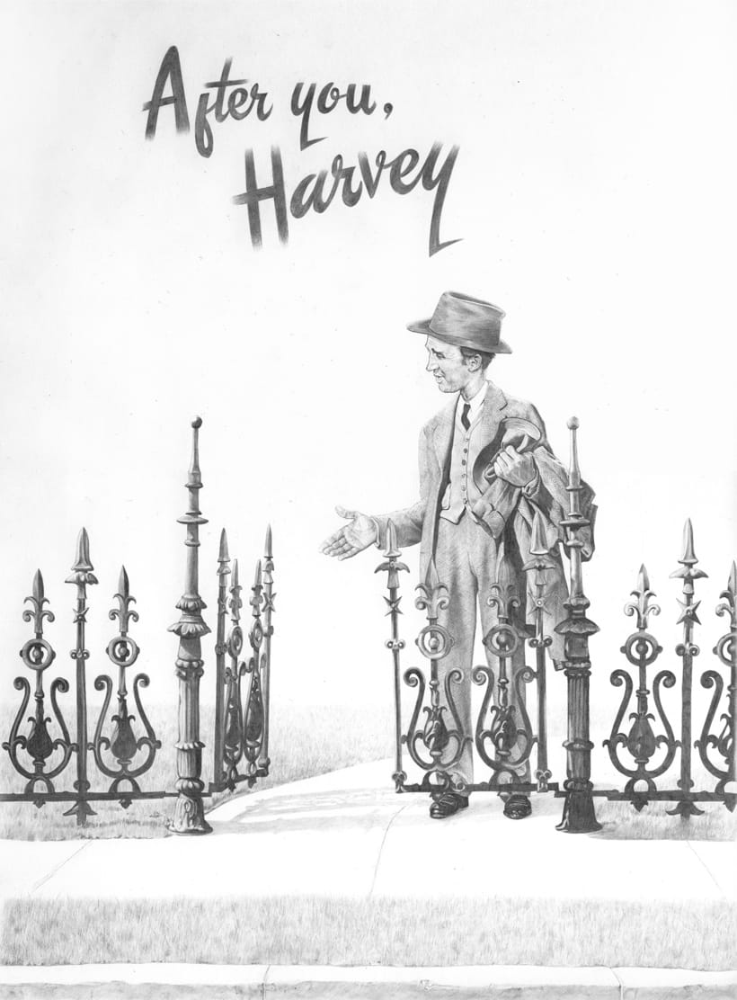 Cartel de El invisible Harvey (Harvey, 1950) 0