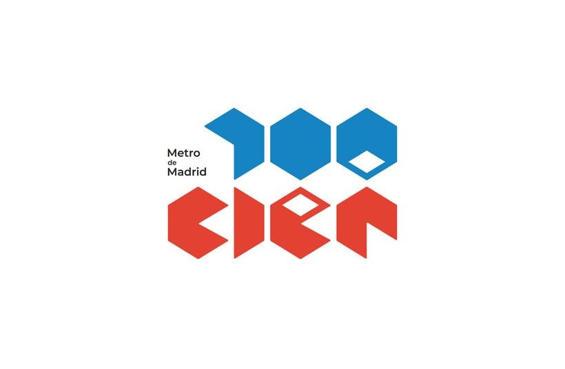 Metro de Madrid. Logotipo para el Centenario. -1