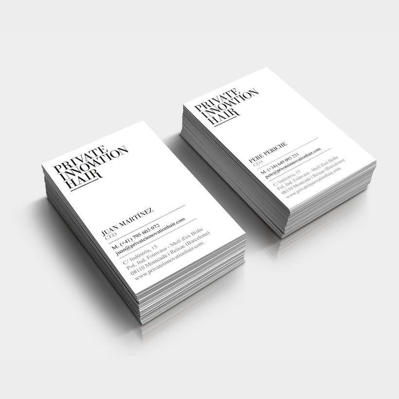 Branding Private Innovation hair 1