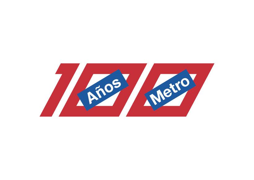 Mi propuesta de logotipo para el Centenario de Metro Madrid -1