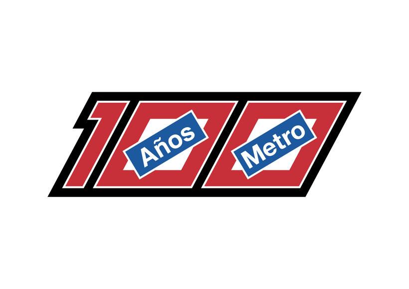 Mi propuesta de logotipo para el Centenario de Metro Madrid 0