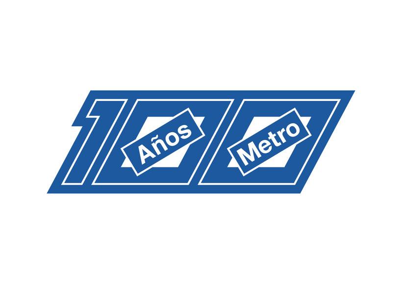 Mi propuesta de logotipo para el Centenario de Metro Madrid 1