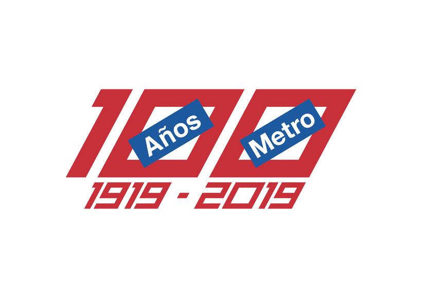 Mi propuesta de logotipo para el Centenario de Metro Madrid 2