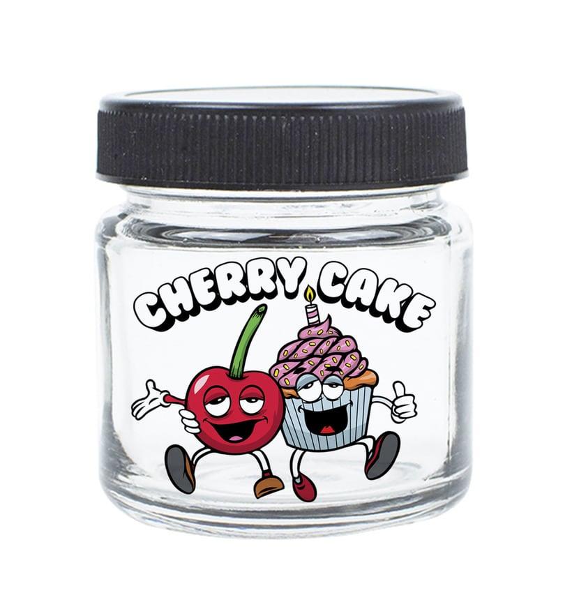 Cherry Cake Label Illustration 1