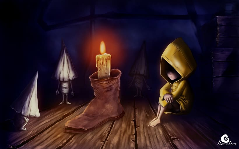 Little Nightmares, Six and Nomes + SpeedPaint 0