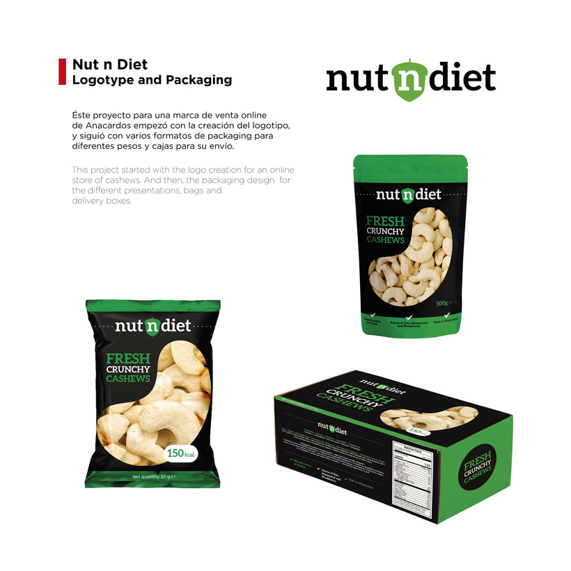 Nut n Diet: Logotipo y Packaging -1