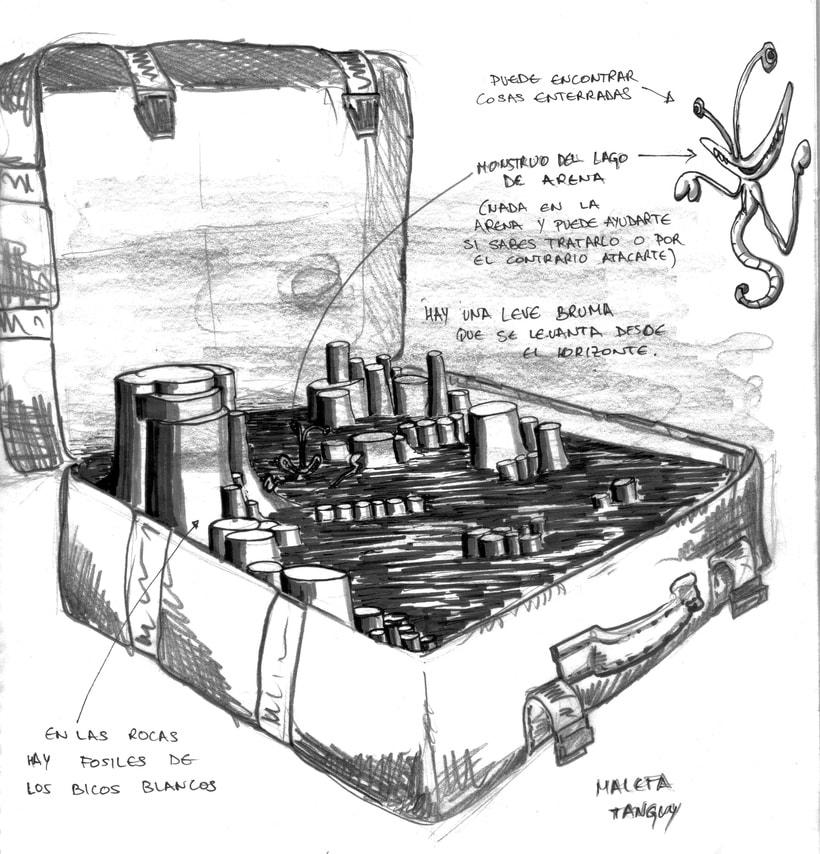 diseño de conceptos y bocetos para el videojuego nubla 2 en educathyssen  7
