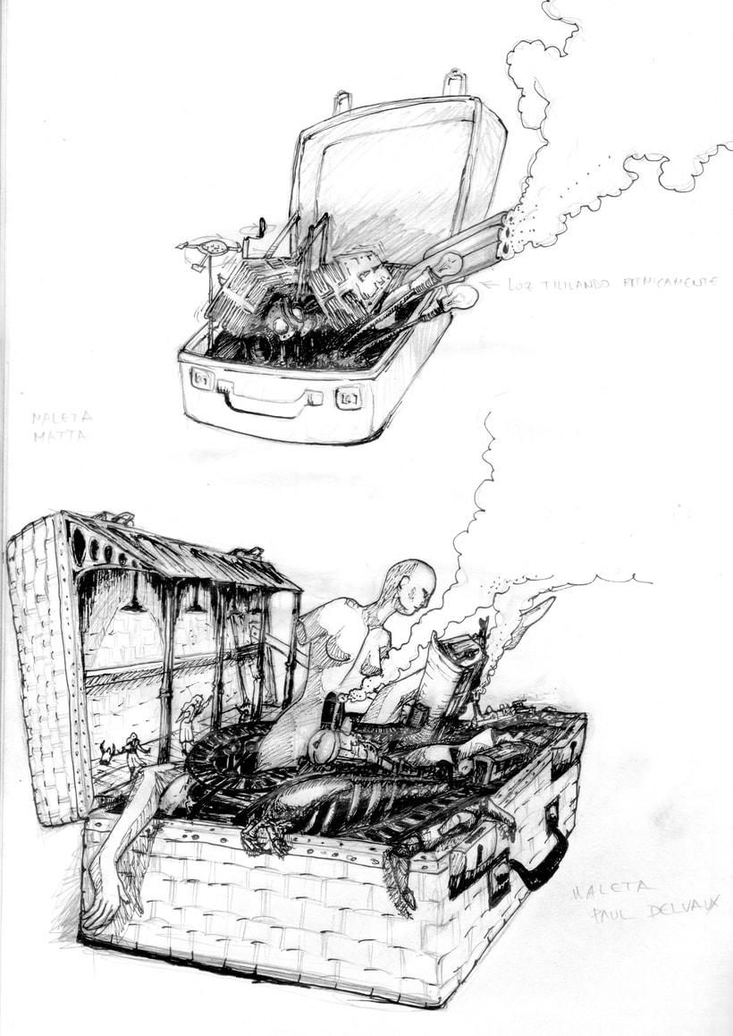diseño de conceptos y bocetos para el videojuego nubla 2 en educathyssen  3