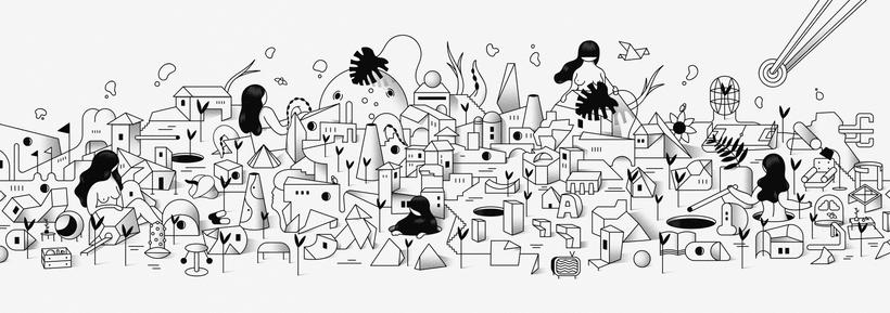 """""""Last Frontier"""" ilustración extraída de la colección """"Otros Mundos"""" ©Hugo Giner 2018. -1"""