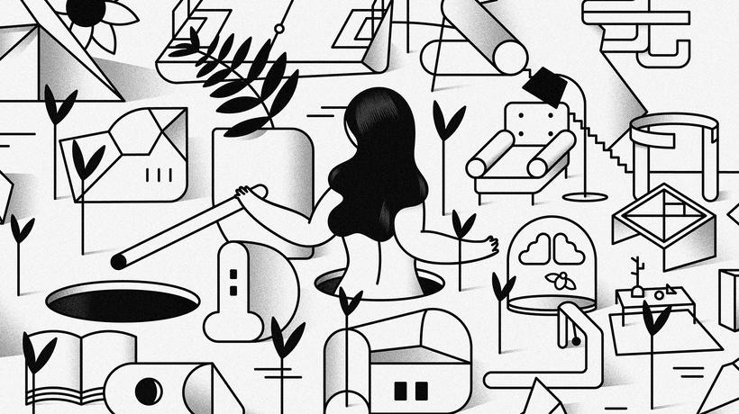 """""""Last Frontier"""" ilustración extraída de la colección """"Otros Mundos"""" ©Hugo Giner 2018. 0"""