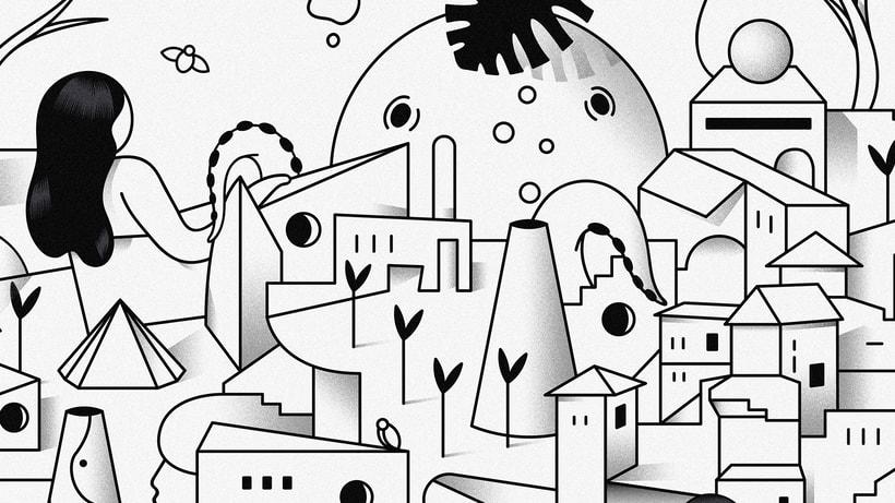 """""""Last Frontier"""" ilustración extraída de la colección """"Otros Mundos"""" ©Hugo Giner 2018. 2"""