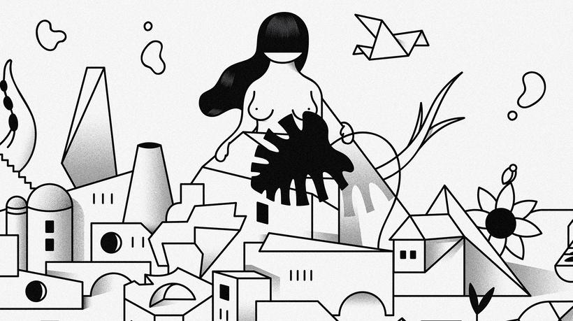 """""""Last Frontier"""" ilustración extraída de la colección """"Otros Mundos"""" ©Hugo Giner 2018. 3"""