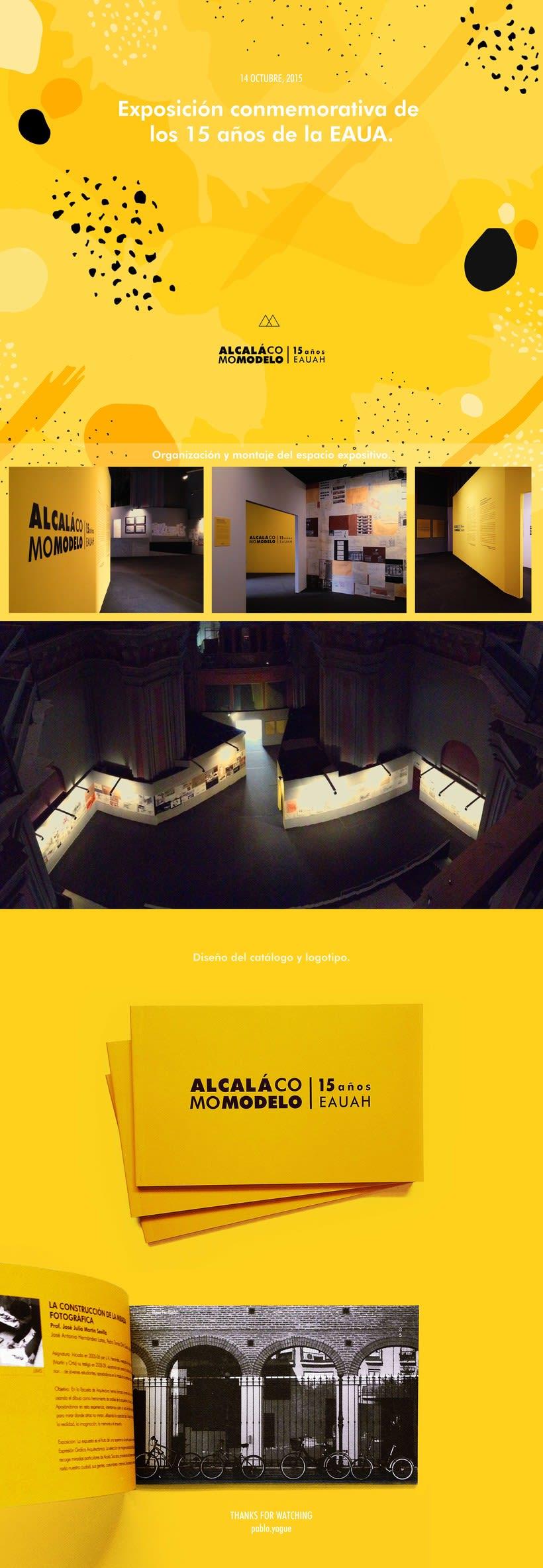 Diseño del espacio expositivo, catálogo e imagen de Alcalá Como Modelo -1