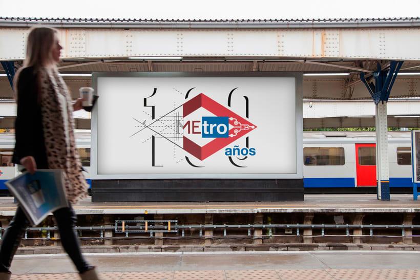 Mi propuesta para el Logo de Metro de Madrid del centenario 4