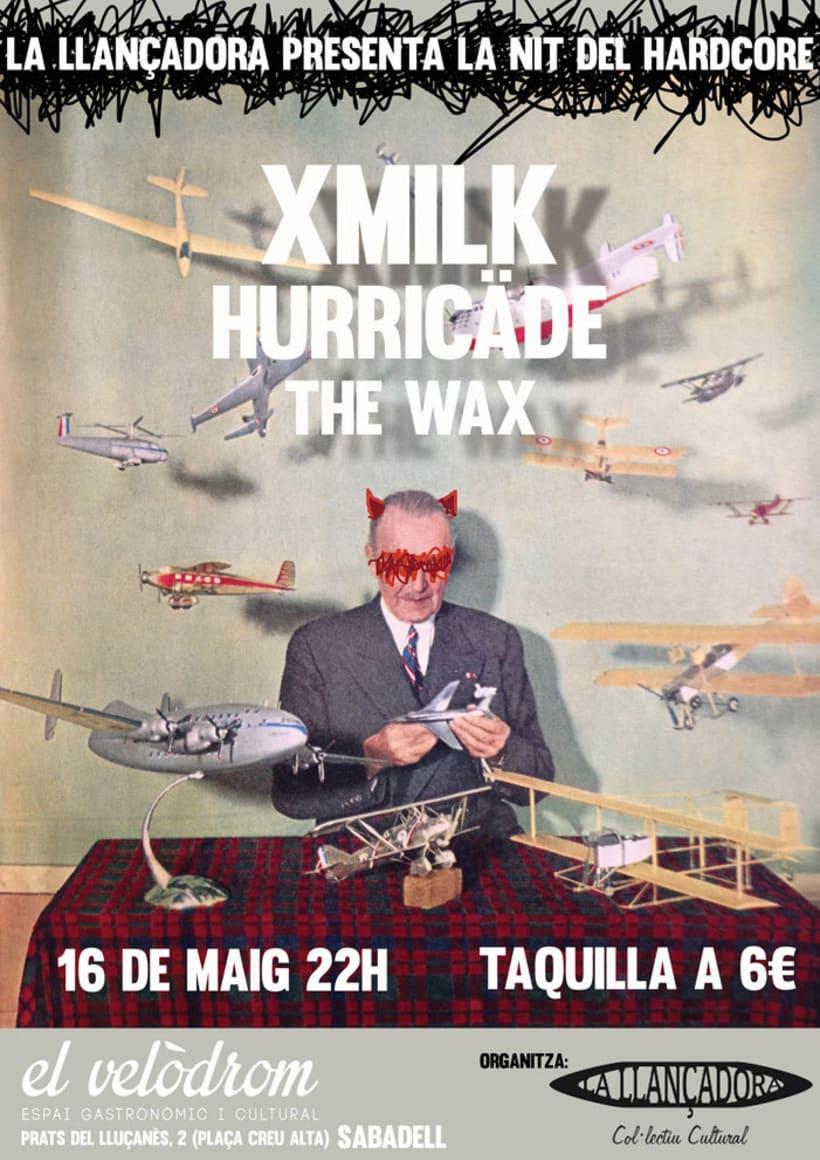 Diseños de posters de conciertos LA LLANÇADORA 0