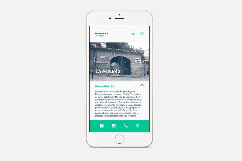App Escuela Arte Jaén 2
