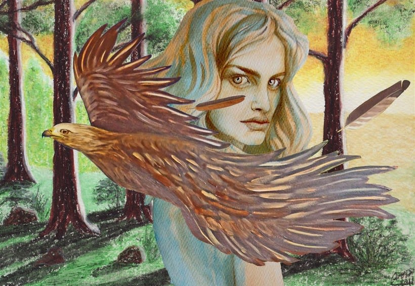 Mi Proyecto del curso: Retrato ilustrado en acuarela. Nuevo proyecto 0