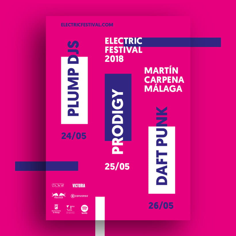 Carteles y merchandising para Electric Festival 2