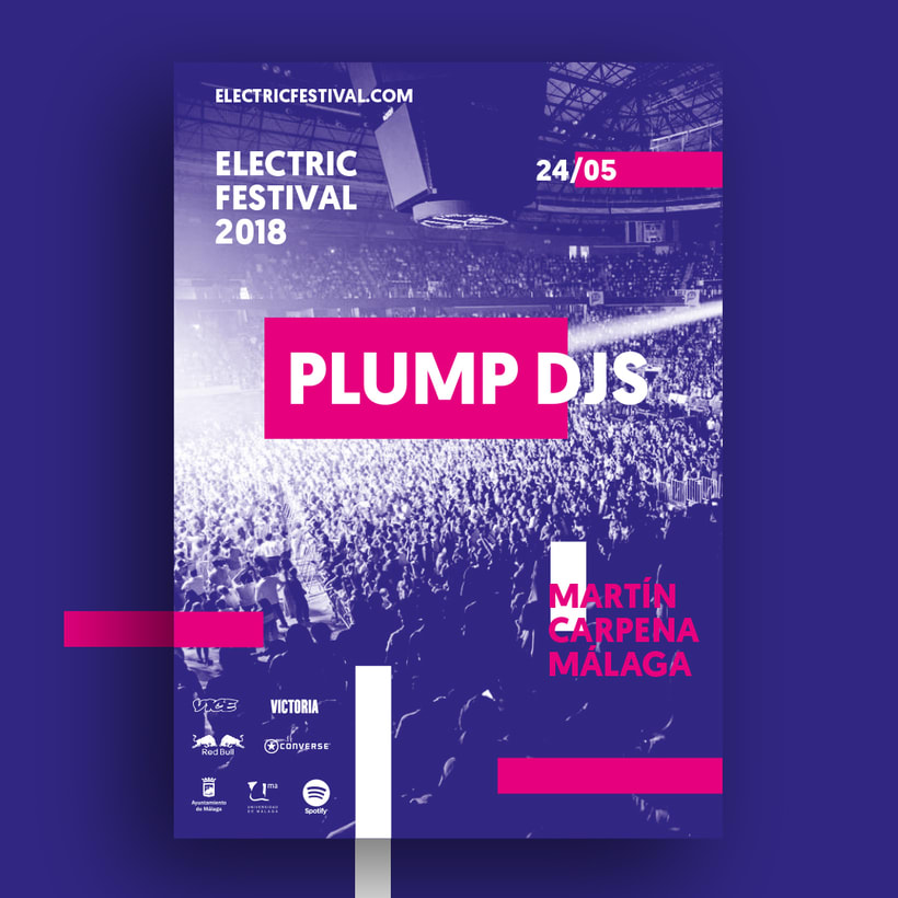 Carteles y merchandising para Electric Festival 3