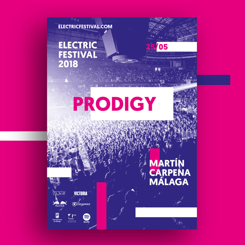 Carteles y merchandising para Electric Festival 4