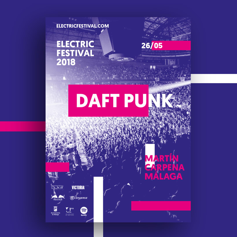 Carteles y merchandising para Electric Festival 5