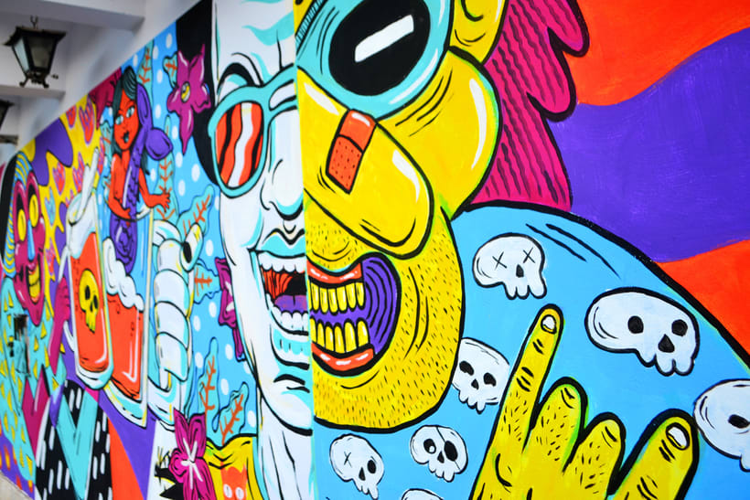 Mural Magestic Bar 4