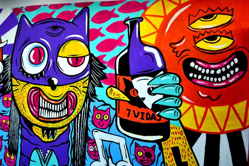 Mural Magestic Bar 7
