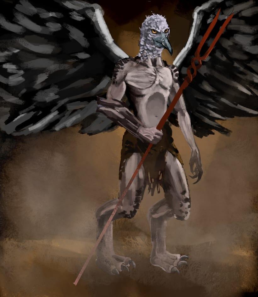 Mi Proyecto del curso: Diseño de personajes para concept art Arpía 0