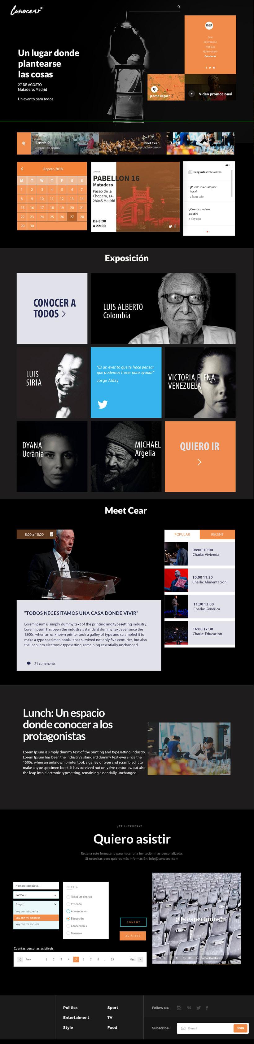 Diseño UI Conocear, Proyecto personal 2