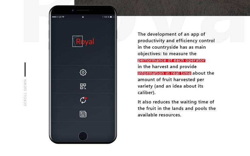 UI / UX App recolección fruta en Marruecos 1