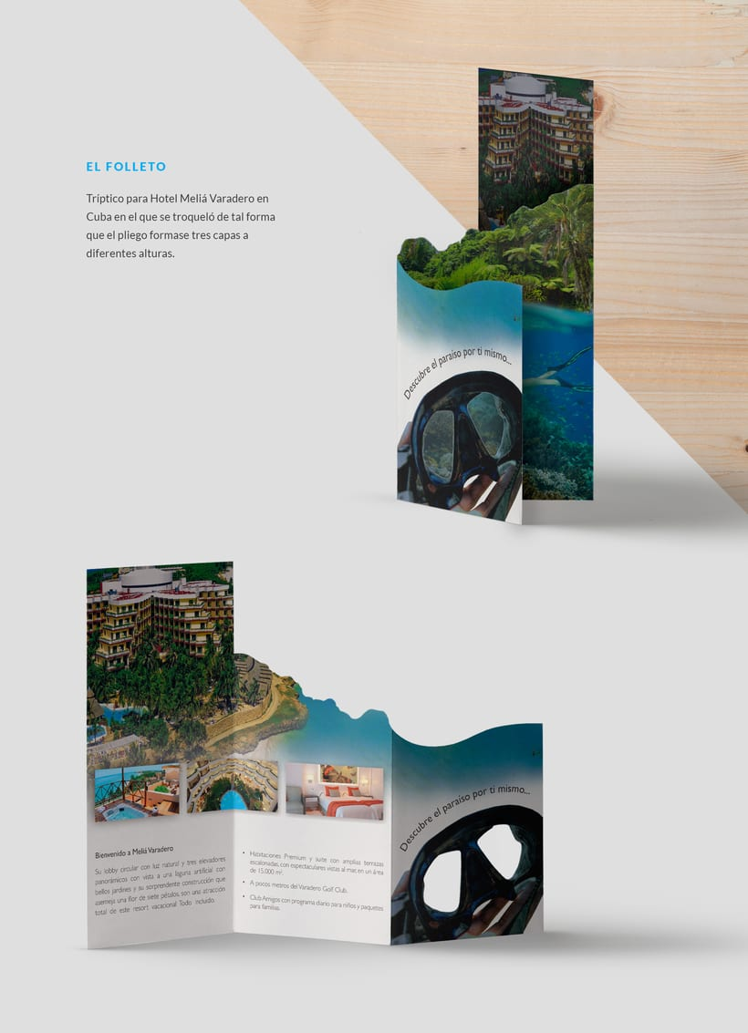 Diseño folleto para Hotel 0