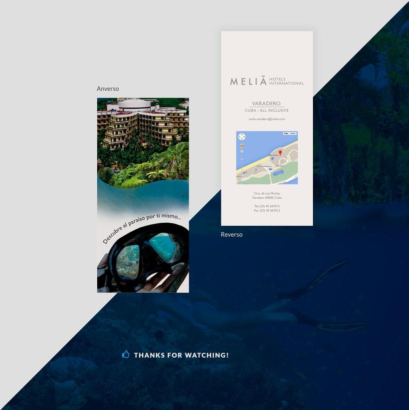 Diseño folleto para Hotel 1