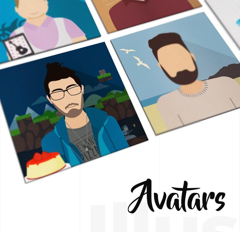 Ilustración avatares equipo 0