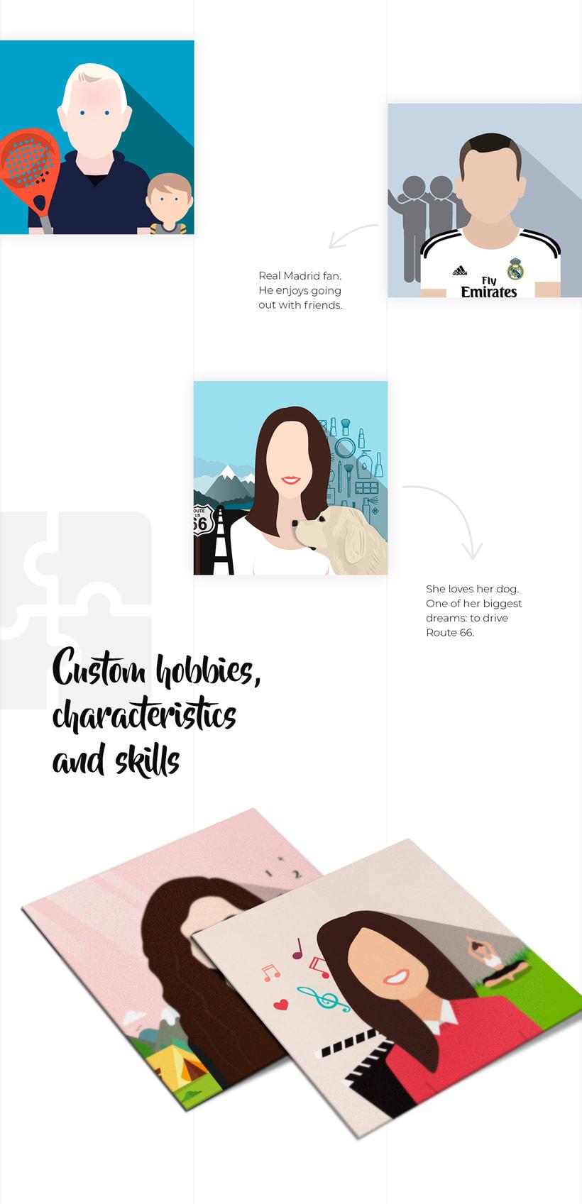 Ilustración avatares equipo 2