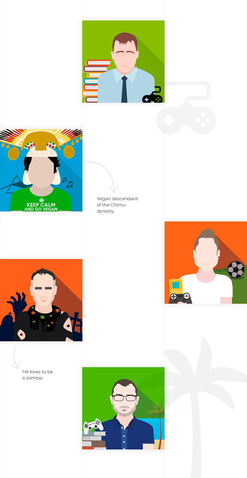 Ilustración avatares equipo 3