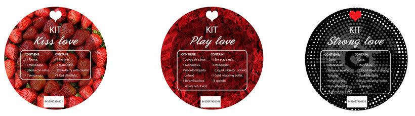 Pegatinas y banner de los kits San Valentín 2018 - SECRET PLAY 0