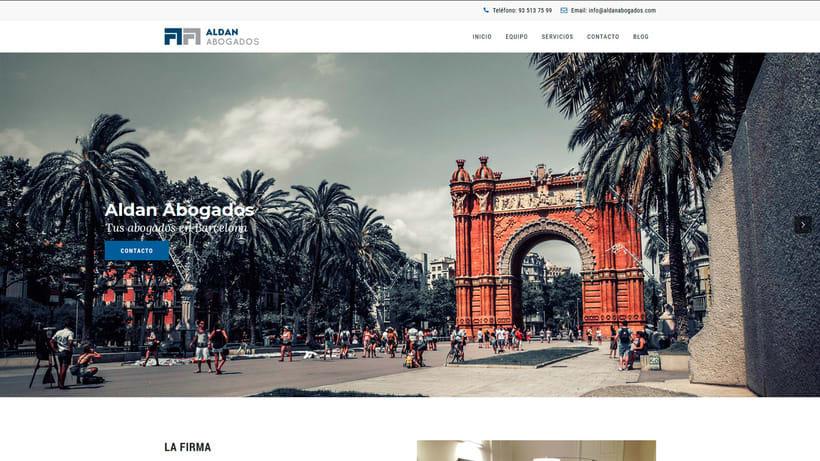 Aldan Abogados - Diseño web 0