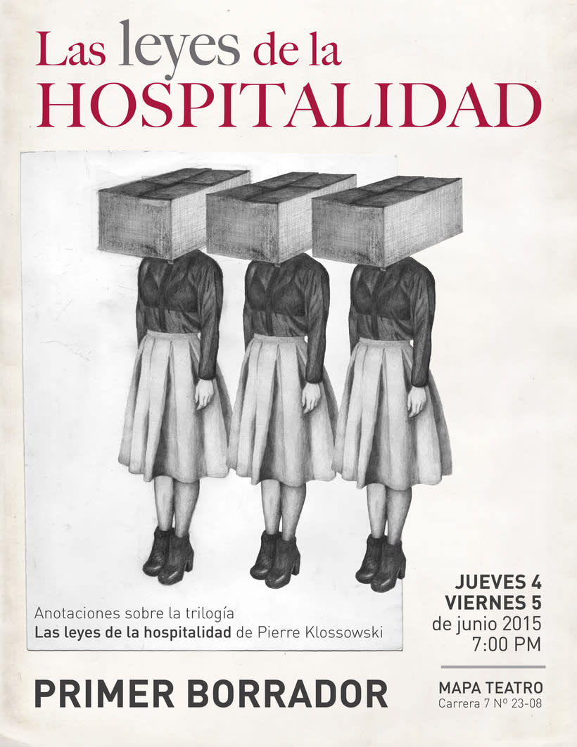 Las leyes de la hospitalidad, afiche 1