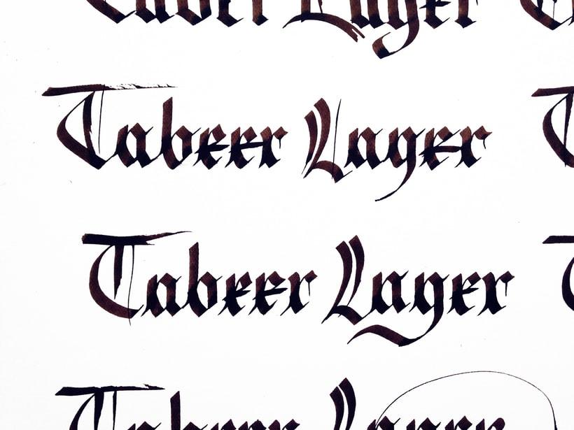 Mi Proyecto del curso: Caligrafía con góticas potentes (Tabeer Lager) 0