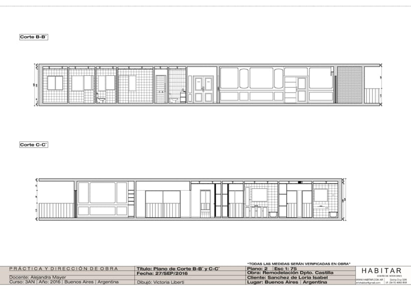 Apartment in Buenos Aires/ planos 3