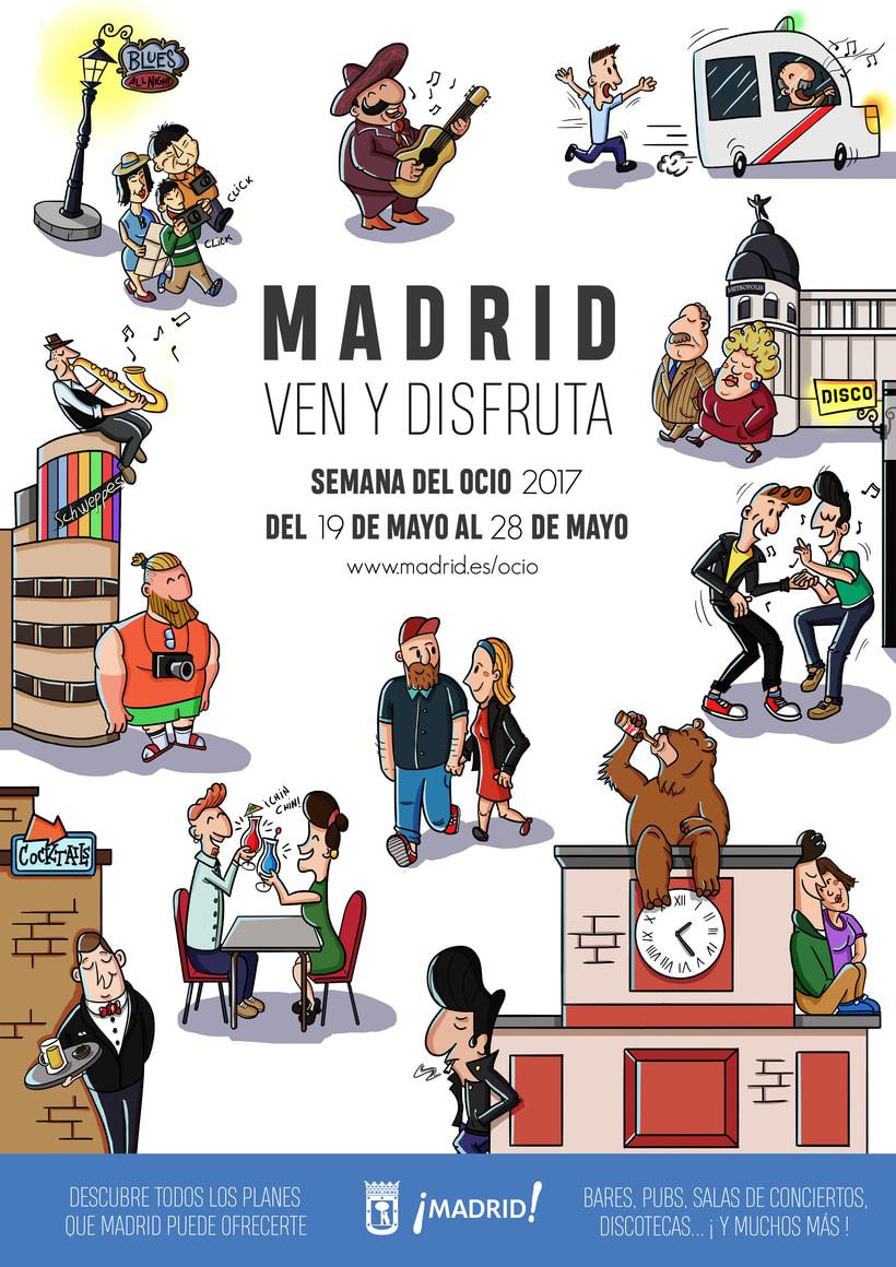 """Cartel """"Madrid ven y disfruta"""" 0"""
