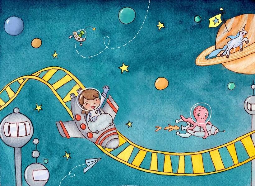 En el espacio 0