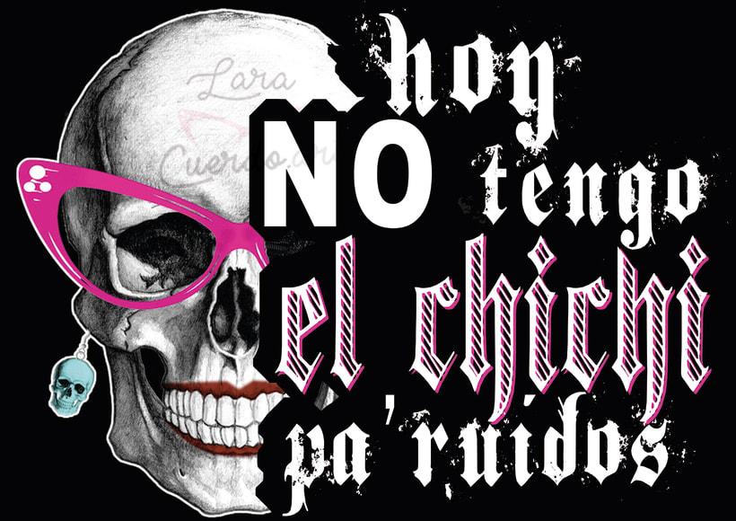 """Print, mock up y camiseta real """"Hoy no tengo el xixi pa` ruidos"""" 1"""