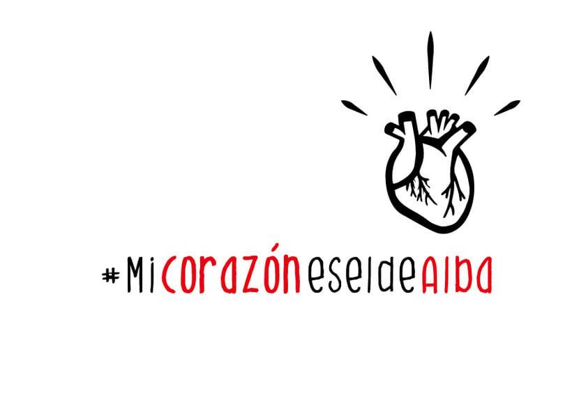 """Print y camiseta original """"Mi corazón es el de Alba""""  0"""