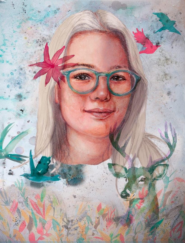 Mi Proyecto del curso: Retrato ilustrado en acuarela de Gloria Climent- 30/04/2018 0