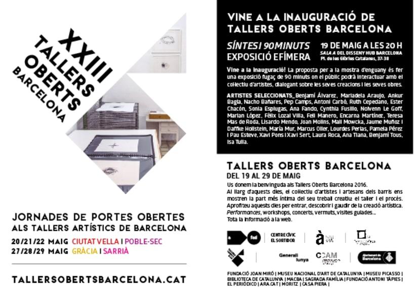 XXIII Tallers Oberts Barcelona 1