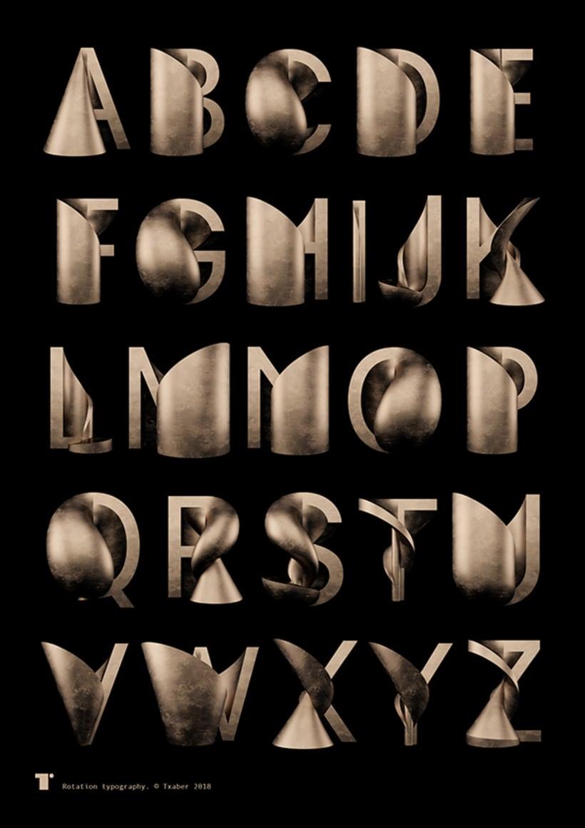 Tipografía Rotation 1